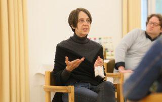 """Bettina Praetorius bei der Workshopreihe """"Veränderung der Strukturen"""""""