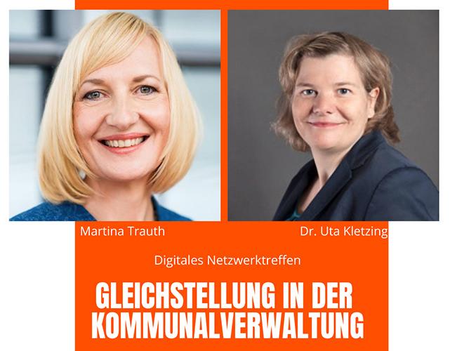 Ankündigung Netzwerktreffen_Gleichstellung in der Kommunalverwaltung Uta Kletzing und Martina Trauth
