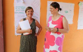 Zwei Teilnehmerinnen des Mentoringtreffens im Sommer 2021