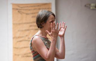 Bettina Praetorius beim Mentoringtreffen im Sommer 2021