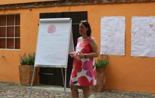 Eine Teilnehmerin des Mentoringtreffens im Sommer 2021