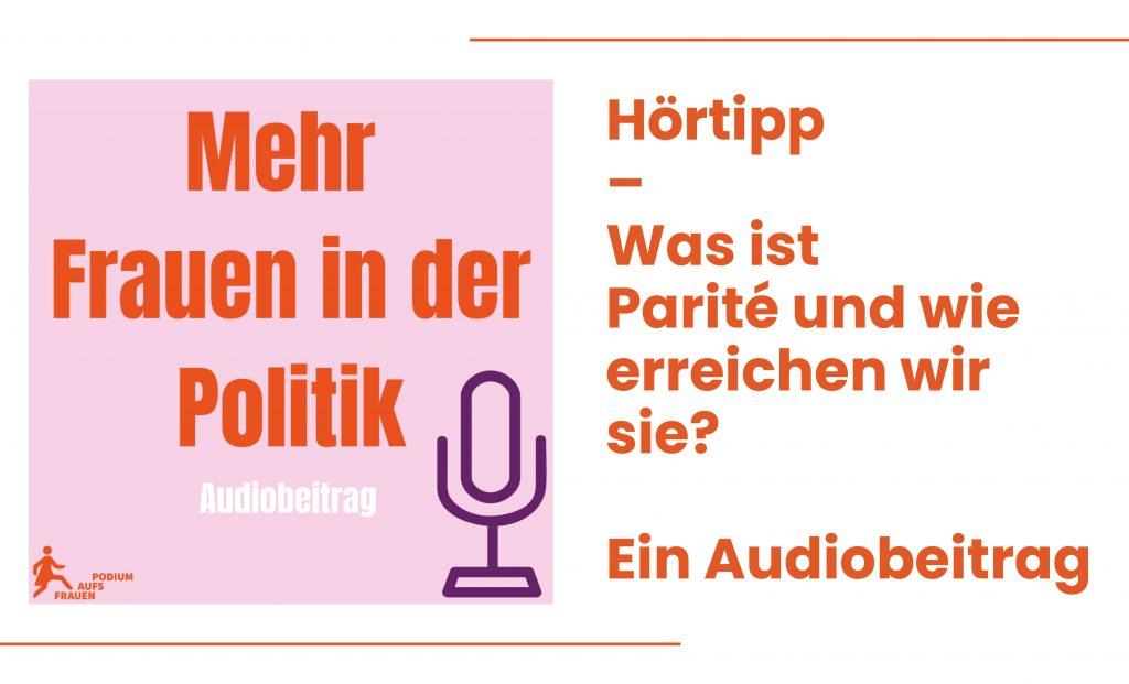 Ankündigungsbox zu unserer Audioreihe Parität
